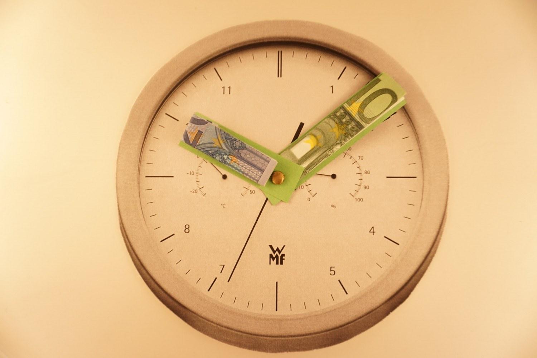 Gelduhr Zeit Ist Geld