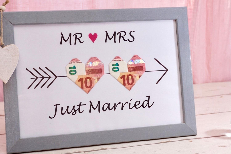 Just Married Bilderrahmen Zur Hochzeit Mit Armor Pfeilen