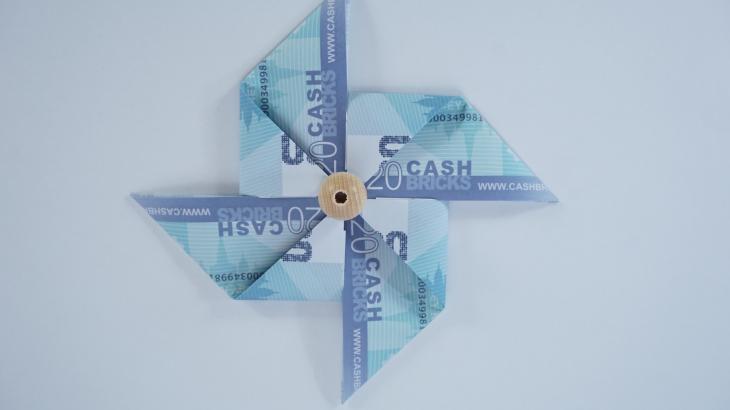 Briefe Mit Geld Verschwinden : Windrad geldgeschenk